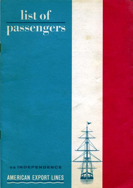 S.S. Independence Passenger List
