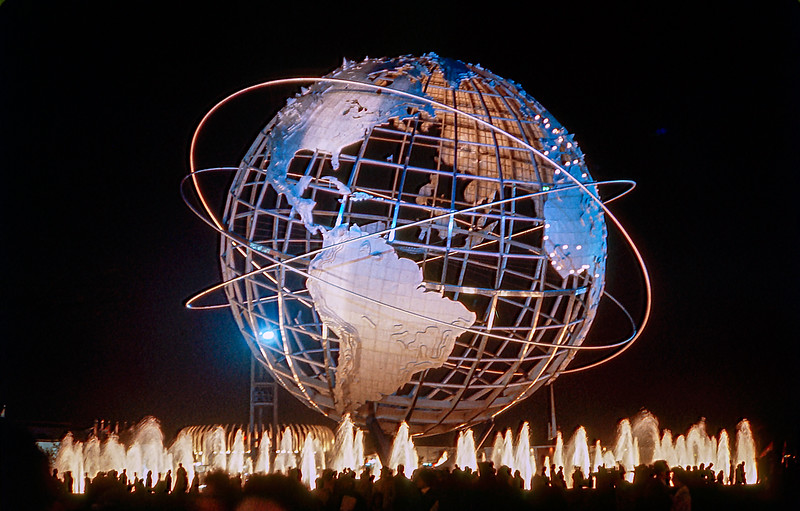 Unisphere at night