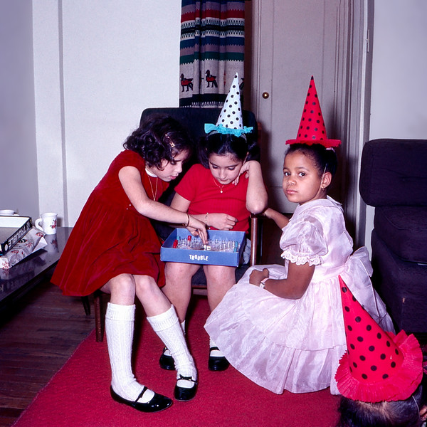"""Playing """"Trouble"""" at Lisita's party with Kareen"""