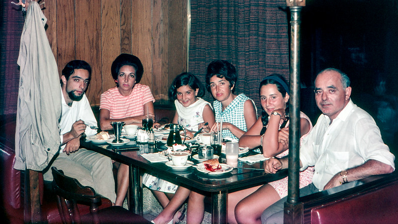 Family at the Flagship diner - August 1967