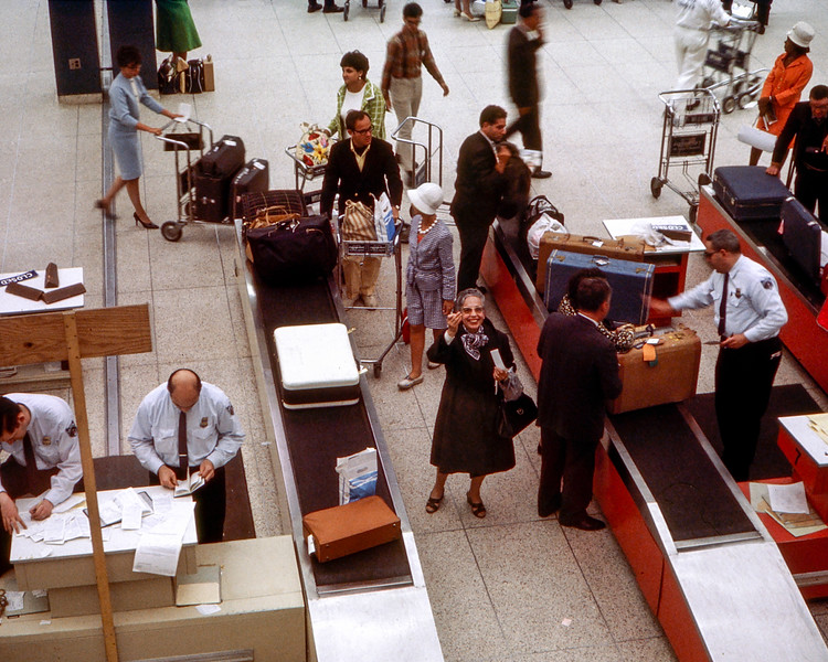 Mamé arrives at JFK Airport - 1967