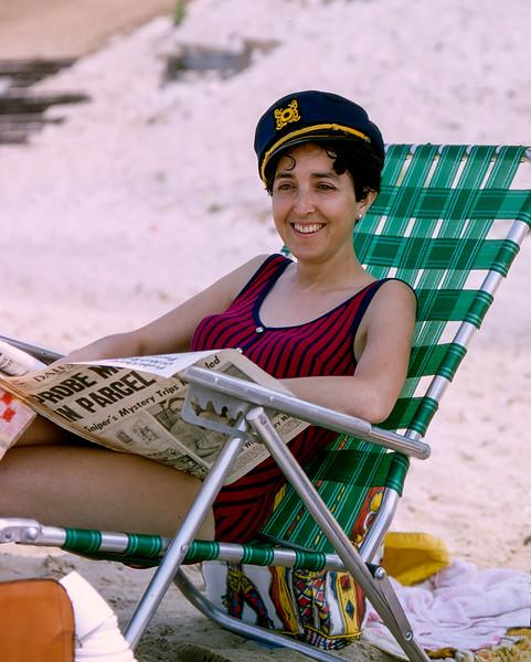Alegria wearing Mercedes sailor hat