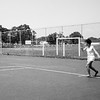 Alegria playing tennis - July 1970