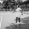 Mercedes playing tennis - July 1970