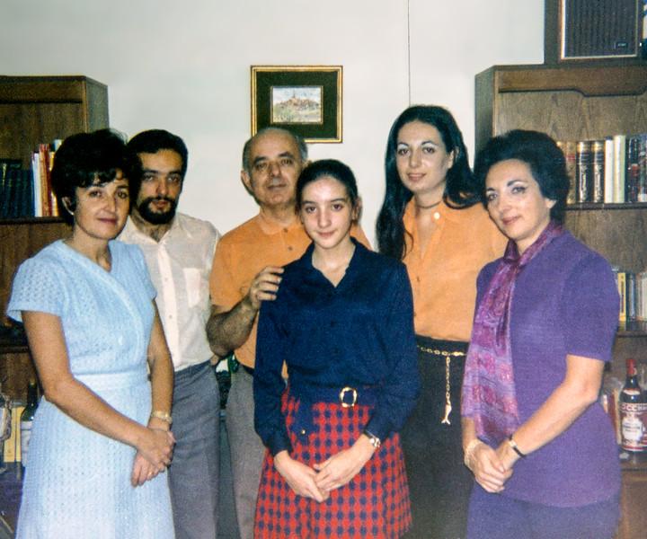 Family on Lisita's 13th birthday - December 1970