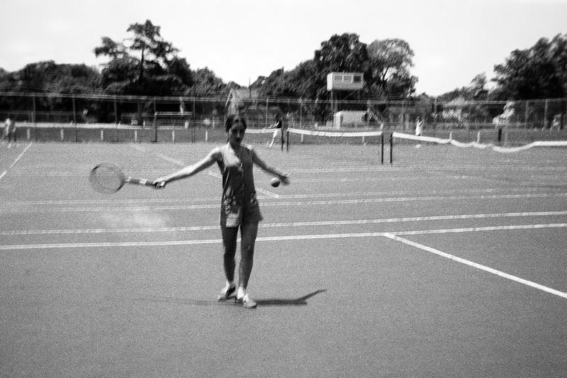 Lisita playing tennis - July 1970