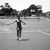 Lisita playing tennis - July 1970