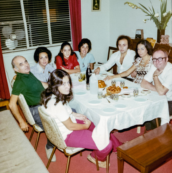 Family Dinner - David Hardan visiting in October 1971