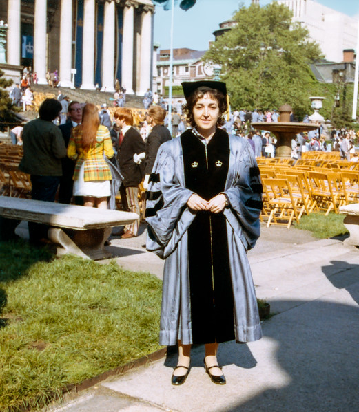 Alegria PhD commencement - Columbia University - May 1973
