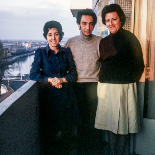 Alegria with her brother Elias & his wife Arlette - Paris - January 1975