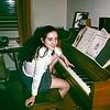 Lisa at the piano - March 1973