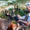 Raphaël feeding deer - August 1985