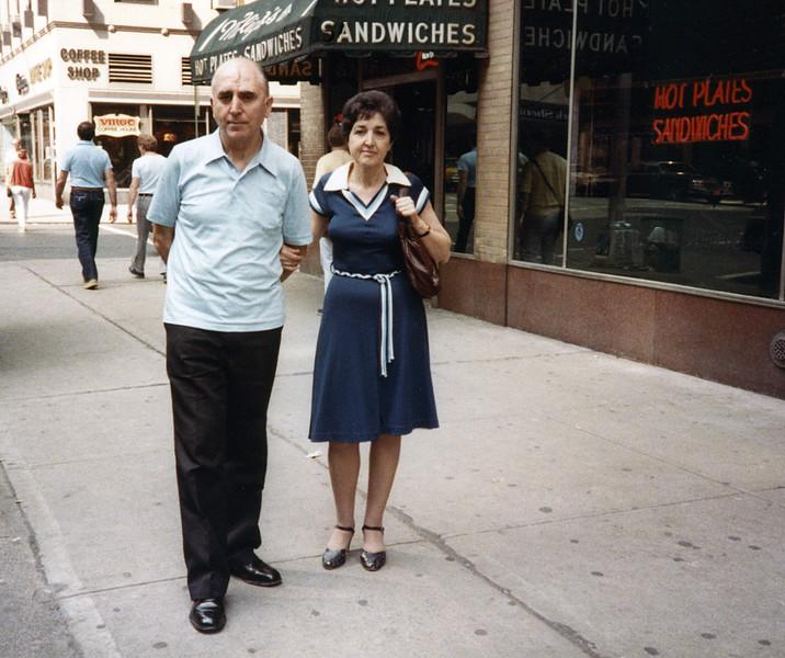 Raphaël & Alegria taking a walk - July 1983