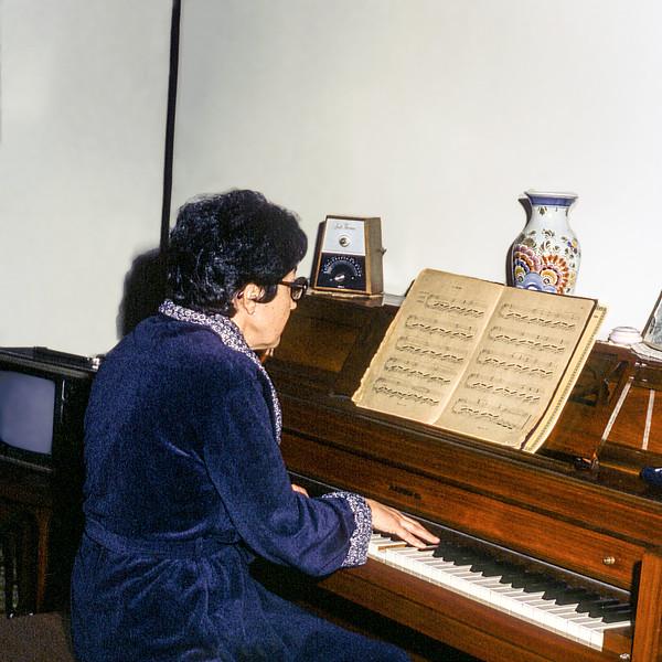 Alegria at the piano - January 1981
