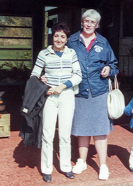 Alegria with her friend Nancy - October 1984