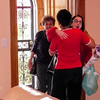Alegria & Lisa greeted by Doris who hosted the party