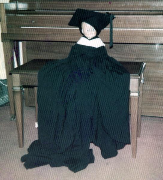 Pierrot in Cap & Gown!