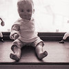 Pierrot on windowsill with 2 Hartland statues - ca. 1967