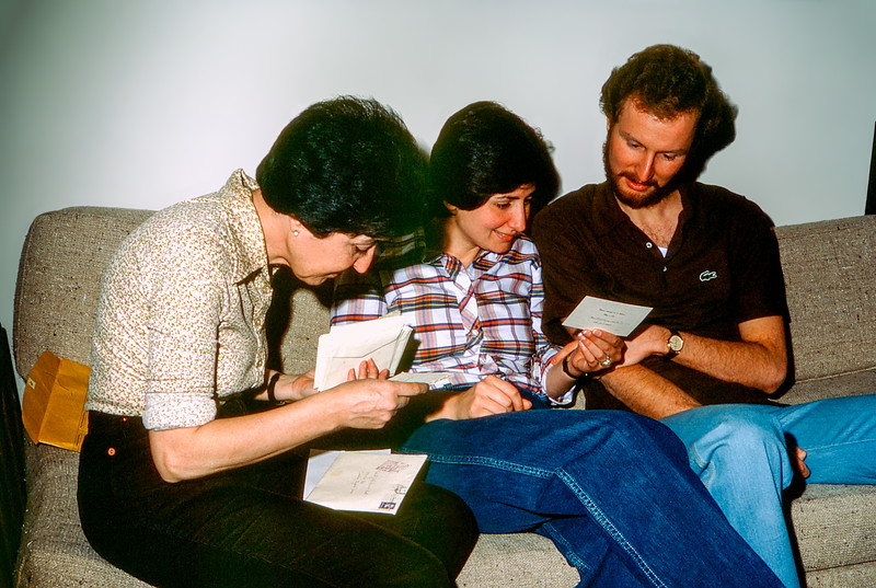 Reviewing the wedding RSVP's - April 1981