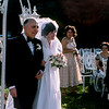 Raphaël escorts Mercedes up the aisle