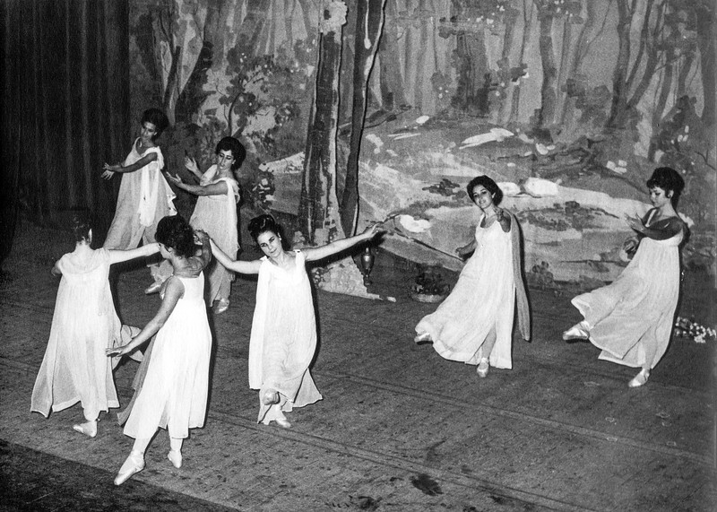 Alegria (2nd from right) in La Scala performance - 1963