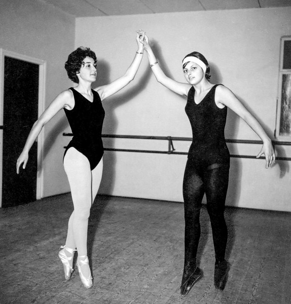 Alegria with Camille during training - March 1962