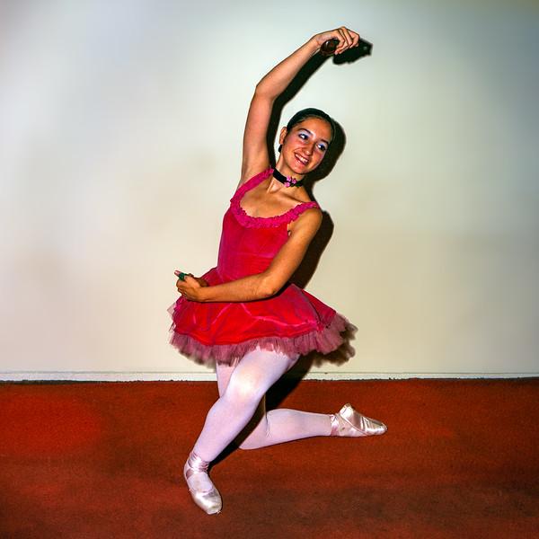 Lisita in red ballet tutu - ca. 1975