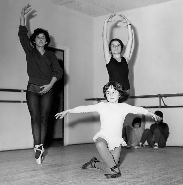 Mercedes during dance class in Casablanca