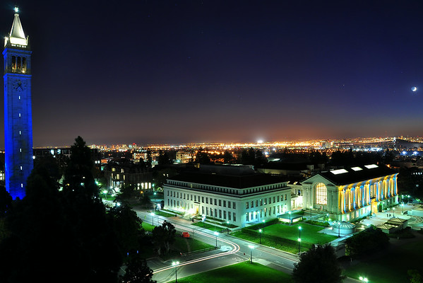 Blue Campanile and Doe Library