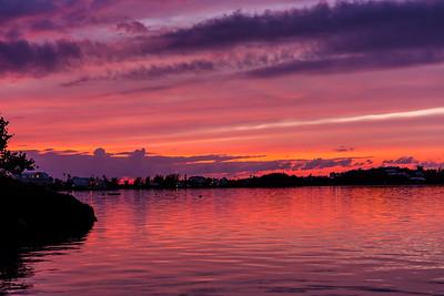 harrington sound sunset