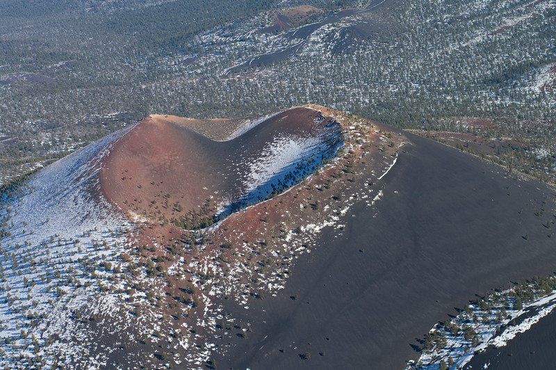 Sunset Crater taken from a motorized glider in January of 2011