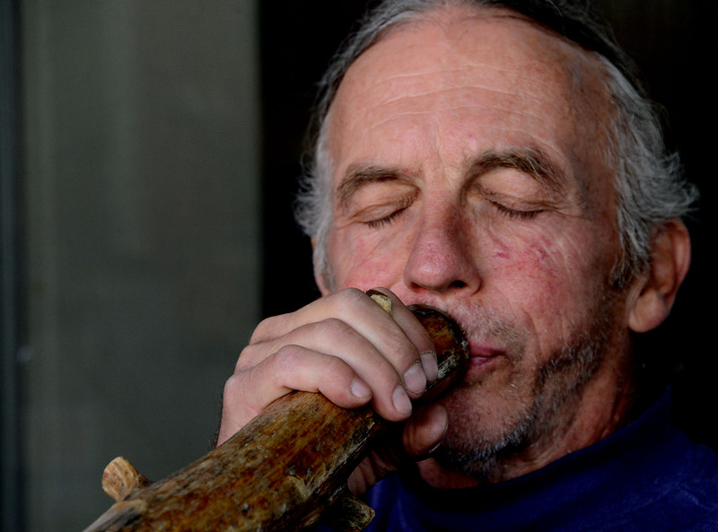 Dave Rentz and his didgeridoo