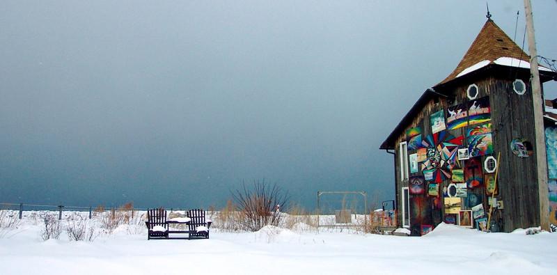 Artist's house on Lake Ontario Bay