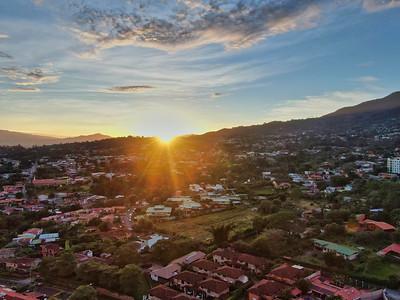 Sunrise over Escazu, San Jose, Costa Rica