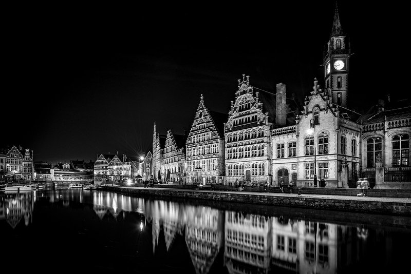 Ghent Guild Houses at Night