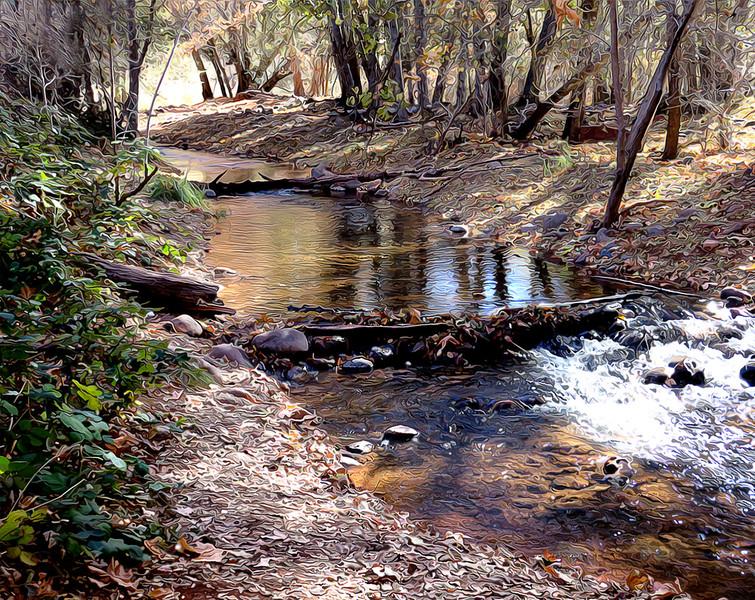 Oak Creek from Crscent Moon Trail