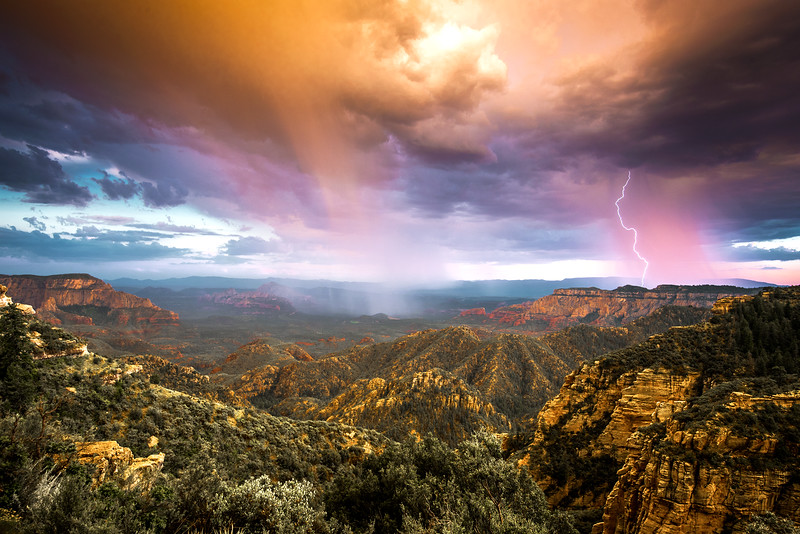 Storm at Secret Canyon Sunset