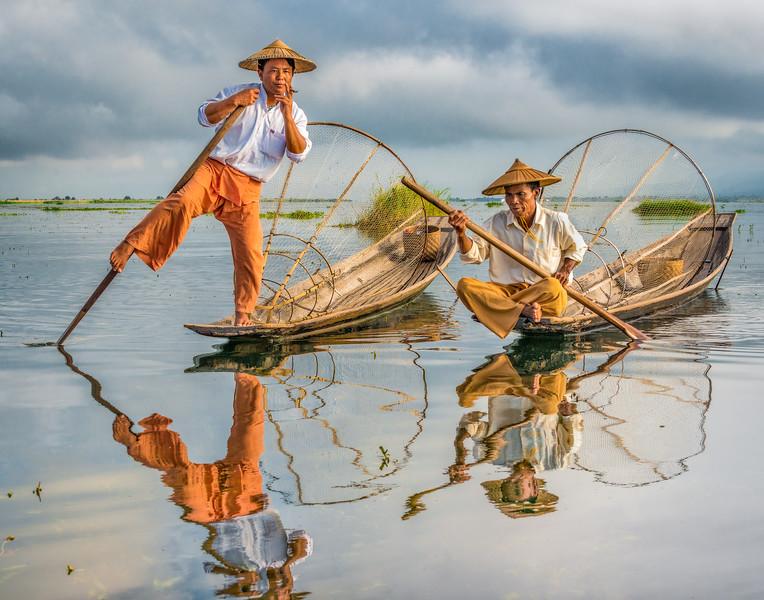 Fishermen Reflection
