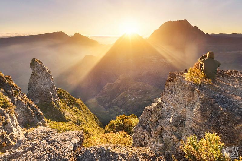 Sunrise over Mafate