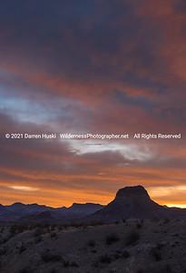 Cerro Castellan and Chisos Sunrise