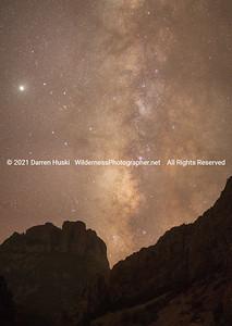 Milky Way over Casa Grande in the Chisos