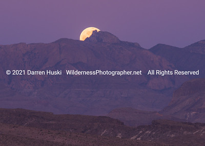 Full Moon Over Emory Peak and the Chisos
