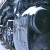Running gear of the world's largest steam locomotive: the Big Boy.