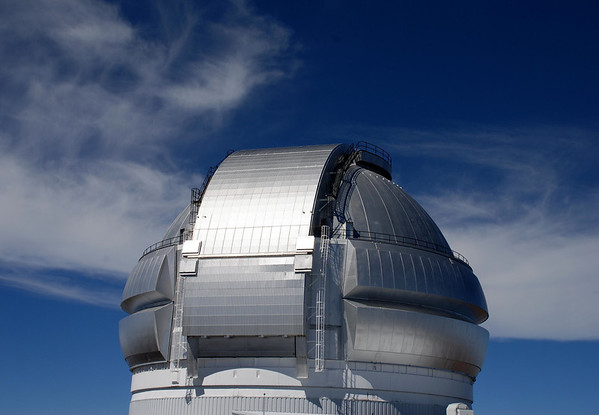 Atop the Gemini Observatory - with the cirrus clouds above the Mauna Kea Volcano - Hamakua district