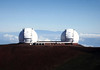 Twin Keck Observatory - houses the largest Optical & Infrared Telescopes on Planet Earth - the primary mirrors are 33 ft. (10 m) in diameter - built here upon the Mauna Kea Volcano - Hamakua district
