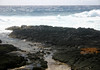 Pacific Ocean waves breaking upon the volcanic rock of Ka Lae (The Point) - the southern most land's end of the Mauna Loa Volcano, the Big Island Hawaii, and also the U.S. 50 states - Kaʻū district