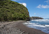Along the Pololu Beach - viewing northwestward along the Kohala coast