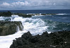 Waves breaking at Cape Kumukahi - eastern most point of the Big Island Hawai'i - Puna district