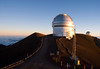 Sunset upon the Gemini and United Kingdom Observatory - with the summit of Mauna Kea Volcano in the distance - Hamakua district