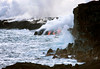 Lava cascade into the Pacific - Hawaii Volcanoes National Park